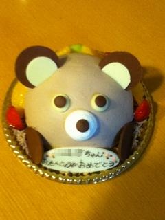 くまさんの誕生日ケーキ
